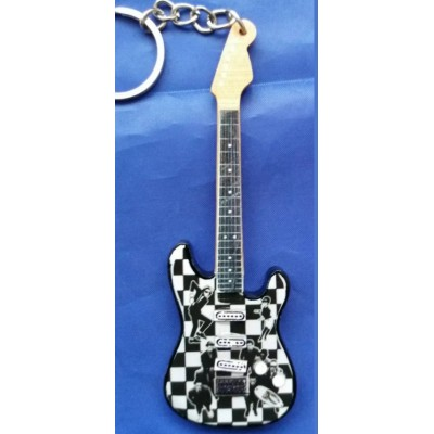 The Jam 10cm Wooden Tribute Guitar Key Chain