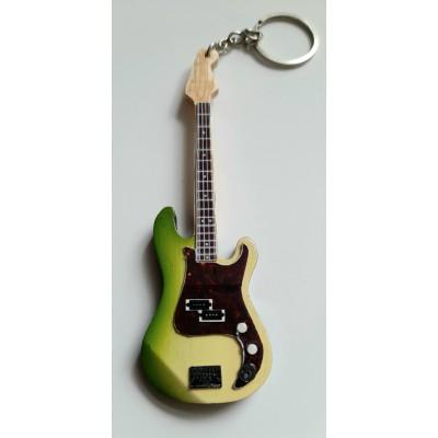 JJ Burnell The Stranglers 10cm Wooden Tribute Guitar Key Chain