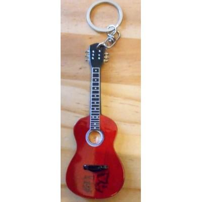 John Lennon 10cm Wooden Tribute Guitar Key Chain