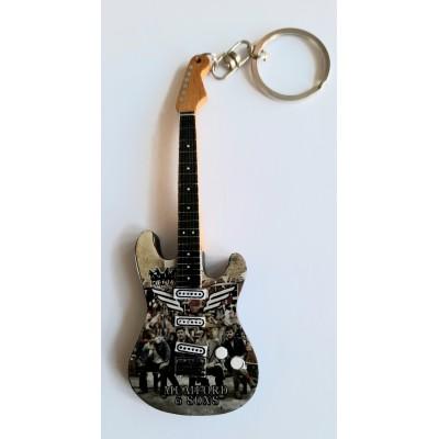 Mumford & Sons 10cm Wooden Tribute Guitar Key Chain