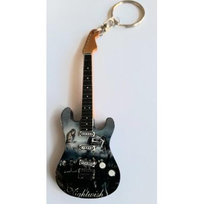 Nightwish 10cm Wooden Tribute Guitar Key Chain