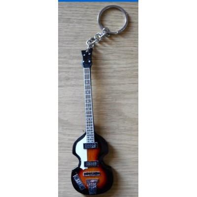 Paul McCartney Bass 10cm Wooden Tribute Guitar Key Chain