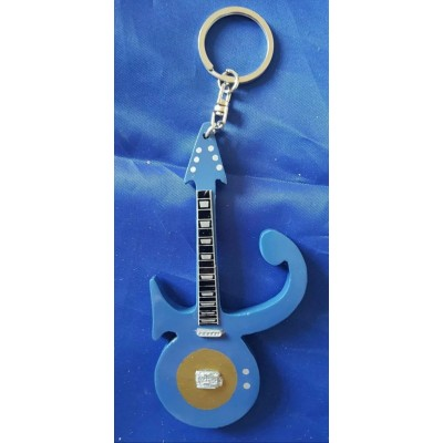 Prince Symbol 10cm Wooden Tribute Guitar Key Chain
