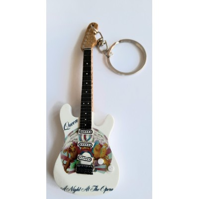 Queen Night at.. 10cm Wooden Tribute Guitar Key Chain