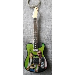 Francis Rossi 10cm Wooden Tribute Guitar Key Chain