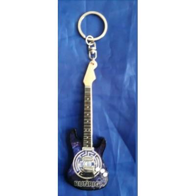 Runrig 10cm Wooden Tribute Guitar Key Chain