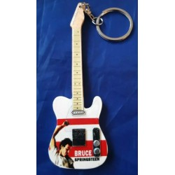 Bruce Springsteen 10cm Wooden Tribute Guitar Key Chain