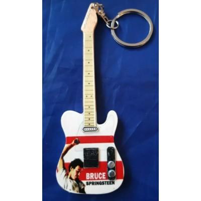 Bruce Springsteen 10cm Wooden Tribute Guitar Key Chain