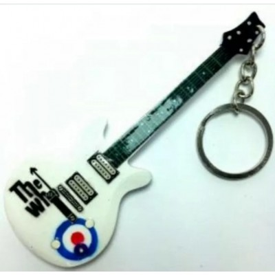 The Who 10cm Wooden Tribute Guitar Key Chain