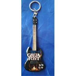 Greta Van Fleet 10cm Wooden Tribute Guitar Key Chain