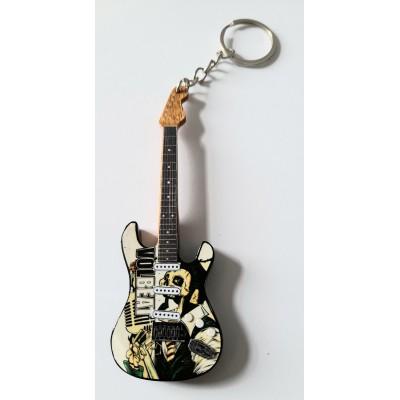 Volbeat 10cm Wooden Tribute Guitar Key Chain