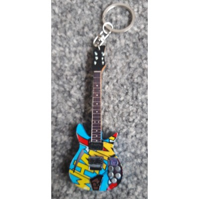 Paul Weller 10cm Wooden Tribute Guitar Key Chain