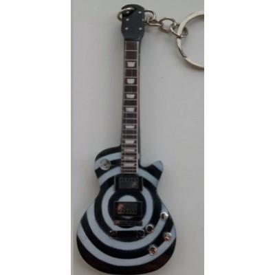 Zakk Wylde 10cm Wooden Tribute Guitar Key Chain