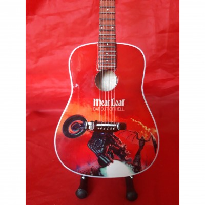 Meatloaf Bat Out Of Hell Tribute Miniature Guitar Exclusive