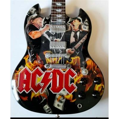 AC/DC Brian & Angus Tribute Miniature Guitar Exclusive