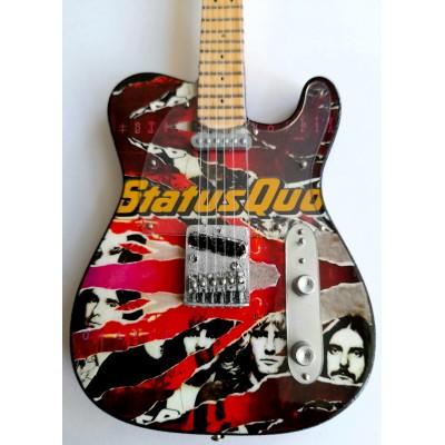 Classic Status Quo Tribute Miniature Guitar Exclusive