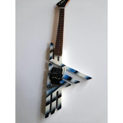 Van Halen Shaped Logo Tribute Miniature Guitar Exclusive