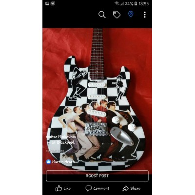 Madness Tribute Miniature Guitar Exclusive