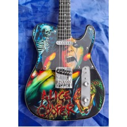Alice Cooper Tribute Miniature Guitar