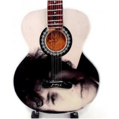 Bob Dylan Tribute Miniature Guitar