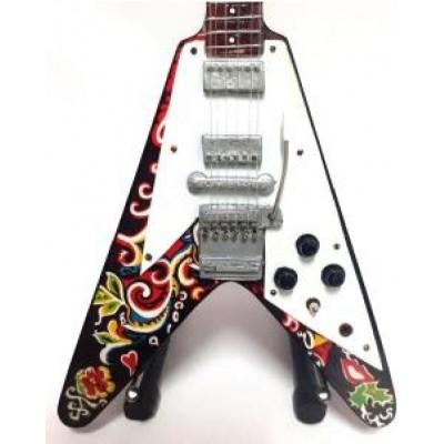 Jimi Hendrix Flying Vee Tribute Miniature Guitar