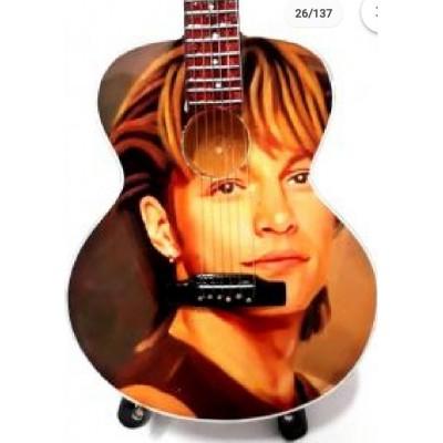 Jon Bon Jovi Tribute Miniature Guitar