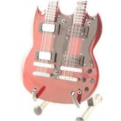 Led Zeppelin Twin Neck Tribute Miniature Guitar