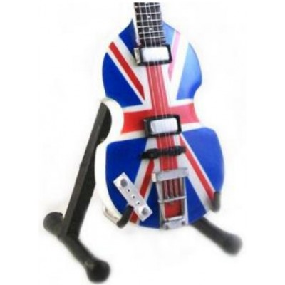 Paul McCartney Union Jack Bass Tribute Miniature Guitar