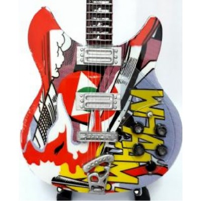 Paul Weller Wham! Tribute Miniature Guitar