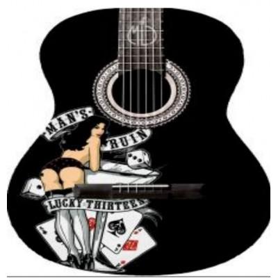 Rockabilly Lady Luck Tribute Miniature Guitar