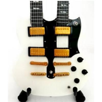 Rush Double Neck Tribute Miniature Guitar