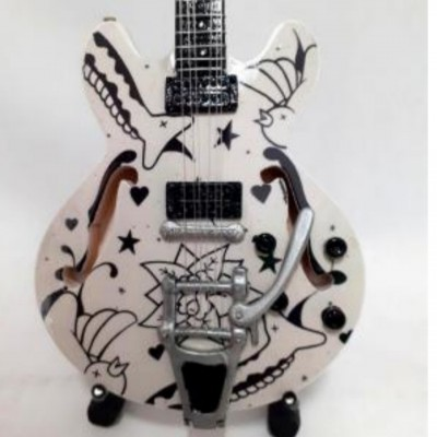 The Cure Tribute Miniature Guitar