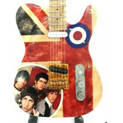 The Who Tribute Miniature Guitar Union Jack