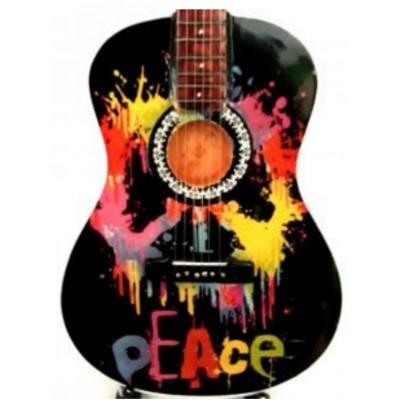 Peace Woodstock Tribute Miniature Guitar