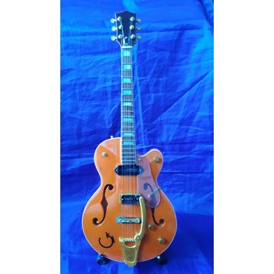 """Eddie Cochran 10"""" Miniature Tribute Guitar"""