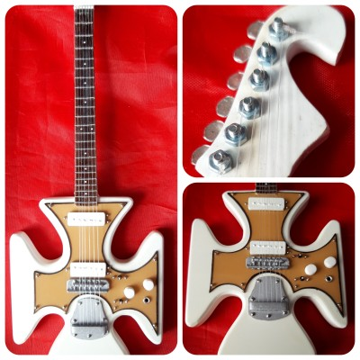 "Ian Hunter Maltese Cross 10"" Miniature Tribute Guitar"