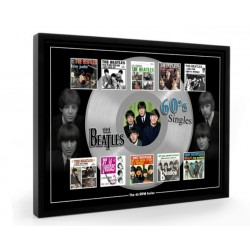The Beatles The 60s Plectrum 45rpm tribute Set Display