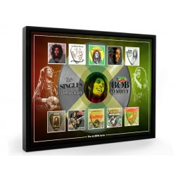 Bob Marley Plectrum 45rpm tribute Set Display