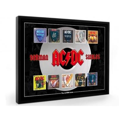 AC/DC Plectrum 45rpm tribute Set Display