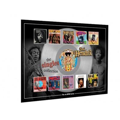 Jimi Hendrix Plectrum 45rpm tribute Set Display