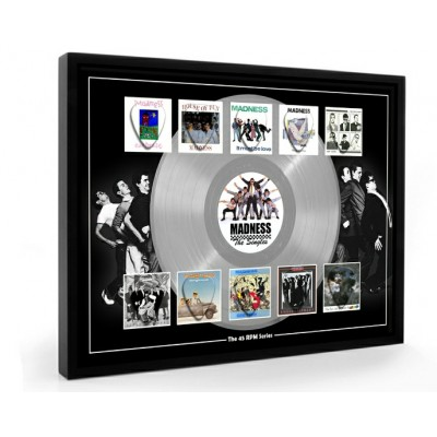 Madness Plectrum 45rpm tribute Set Display