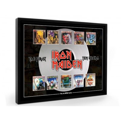 Iron Maiden Plectrum 45rpm tribute Set Display