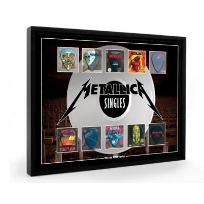 Metallica Plectrum 45rpm tribute Set Display