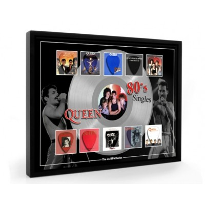 Queen 80s Plectrum 45rpm tribute Set Display