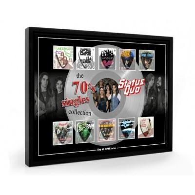 Status Quo The 70s Plectrum 45rpm tribute Set Display