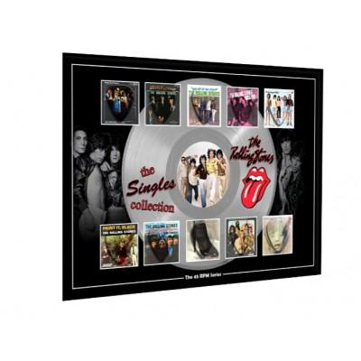 Rolling Stones Plectrum 45rpm tribute Set Display